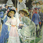 часть 4 -- European art Европейская живопись - Oscar BLUHM Elegant Ladies at the Races 87379 121