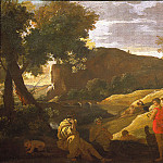 "часть 4 -- European art Европейская живопись - NICOLAS POUSSIN ""An Arcadian Landscape with stories from the legends of Pan and Bacchus"" 33380 316"