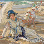 часть 4 -- European art Европейская живопись - Paul Michel Dupuy At the Beach 37510 121