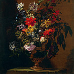 часть 4 -- European art Европейская живопись - Nuzzi Mario called Mario deFiori Flowers in a Vase on a Stone Ledge 17942 203