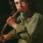 Michael Sweerts Portrait of a Young Man playing a Hunting Horn 17931 203, Michael Sweerts