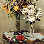 часть 4 -- European art Европейская живопись - Mark Fisher Flowers in Two Glass Vases on a Table 12037 2426
