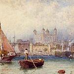 часть 4 -- European art Европейская живопись - Myles Birket Foster The Tower of London from the Thames Putney Bridge 12044 2426