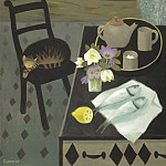 часть 4 -- European art Европейская живопись - Mary Fedden Sleeping cat 98361 20