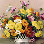 часть 4 -- European art Европейская живопись - Maurice Decamps Summer Flowers 11989 2426