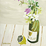 часть 4 -- European art Европейская живопись - Mary Fedden Autumn crocuses in a wine bottle with a lemon 98179 20