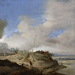 Landschap met seinpaal, 1650-1668, Philips Wouwerman