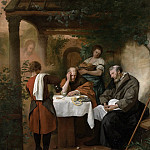 Steen, Jan Havicksz. -- De Emmaüsgangers, 1665-1668, Rijksmuseum: part 2