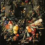 Part 3 - Jan Davidsz. de Heem (1606-1683-84) - Fruit and flower garlands with wine glass