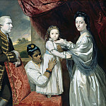 Part 3 - Joshua Reynolds (1723-1792) - George Clive and his Family with an Indian Servant