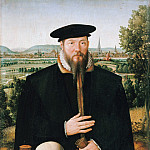 Part 3 - Ludger tom Ring I (1496-1547) - Portrait of Hermann Huddaeus front of a view of the city of Minden