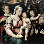 Part 3 - Luca Longhi (1507-1580) - Mary with the Child, John the Baptist and the Saint Lucia, Rocco and NikolausTolentino