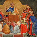 Part 3 - Lorenzo Veneziano (before1356-after1378) - Predella with scenes from the lives of the Apostles Peter and Paul - The apostle Peter preach
