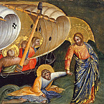 Part 3 - Lorenzo Veneziano (before1356-after1378) - Predella with scenes from the lives of the Apostles Peter and Paul - Christ saved the sink in the water with him Peter
