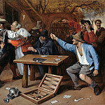 The dispute at cards, Jan Havicksz Steen