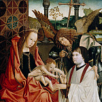 Maria with the child, the Archangel Michael and a donor, De Schryver Louis Marie