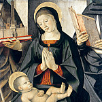 Part 3 - Marco Palmezzano (c.1459-c.1539) - Enthroned Madonna Adoring the Child with St Petronius and St Dominicans