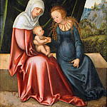 Part 3 - Lucas Cranach I (1472-1553) - The Virgin and Child with St Anne