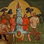 Part 3 - Lorenzo Veneziano (before1356-after1378) - Predella with scenes from the lives of the Apostles Peter and Paul - The Crucifixion of St. Peter