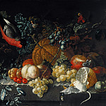 Johann Amandus Winck – Still life with fruit, flowers and animals, Part 3