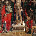 The Saints Sebastian, John the Evangelist and Rochus, Jan Baptist Lodewyck Maes