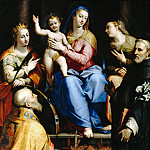 Part 3 - Lorenzo Sabatini (c.1530-1576) - Enthroned Madonna with Child