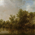 Part 3 - Jan van Goyen (1596-1656) - River landscape with willow trees