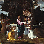 Christ in the Desert, Served by angels, Lodovico Carracci