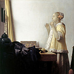 Jan Vermeer – Woman with a Pearl Necklace, Part 3