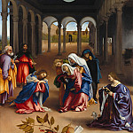 Christs farewell a mother, Lorenzo Lotto