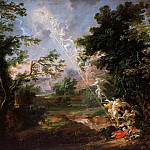 Michael Lucas Leopold Willmann – Landscape with the Dream of Jacob, Part 3