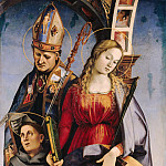 Luca Signorelli – The St. Augustine, Catherine of Alexandria and St. Anthony of Padua, Part 3