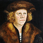 Part 3 - Lucas Cranach I (1472-1553) - Portrait of a man in a fur beret