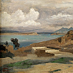 Corot, Jean-Baptiste Camille -- Ischia, vue prise des pentes du Mont Epomeo-Ischia, seen from Mount Epomeo, 1828. Paper on canvas, 26 x 40 cm R.F.2231, Part 2 Louvre