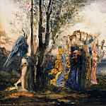 Amor and the Muses, Gustave Moreau