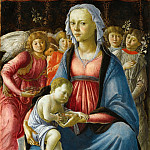 Sandro Botticelli -- Virgin and Child surrounded by Five Angels, Part 2 Louvre