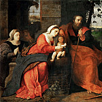 Jacopo Palma, il vecchio -- Adoration of the Shepherds with a Donor, Part 2 Louvre