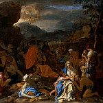 Part 2 Louvre - Le Brun -- Moses Drawing Water from the Rock