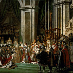 The Coronation of the Napoleon and Joséphine in Notre-Dame Cathedral on December 2, 1804, Jacques-Louis David