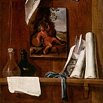 Bernardo Llorente Germán -- Still Life Trompe l'oeil, Wine-Allegory of Taste, Part 2 Louvre
