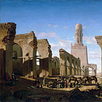 Part 2 Louvre - Prosper Marilhat -- Ruins of the Mosque of Caliph El-Hakem in Cairo