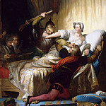 Alexandre-Evariste Fragonard -- Scene from the Saint Bartholomew's Day Massacre in the apartment of the Queen of Navarra, August 24, 1572, Part 2 Louvre