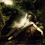 Part 2 Louvre - Anne-Louis Girodet de Roucy-Trioson -- Endymion, Moonlight Effect (The Sleep of Endymion)