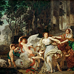 Jean-Baptiste Greuze -- Innocence Carried Away by Love, or The Triumph of Hymen, Part 2 Louvre