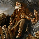 Joseph-Marie Vien -- The Sleeping Hermit, Part 2 Louvre
