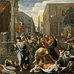 Nicolas Poussin -- Plague of Ashdod , Part 2 Louvre