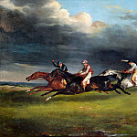 Part 2 Louvre - Théodore Géricault -- Horse Race (Derby of 1821 at Epsom)