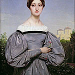 Part 2 Louvre - Horace Vernet -- Portrait of Louise Vernet, daughter of the artist