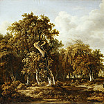 Meindert Hobbema -- The Oak Forest, Part 2 Louvre