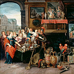 Studio of Frans Francken II -- Ulysses Recognizes Achilles among the Daughters of Lycomedes, Part 2 Louvre
